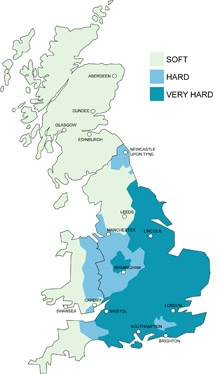Water Hardness UK Map