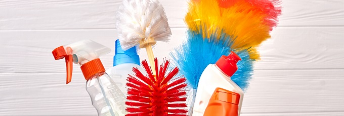 Colourful Spring Cleaning Products