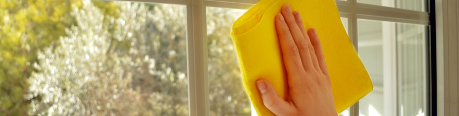 Hand and Cloth Cleaning Window