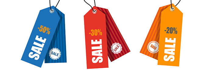 Sale And Reduced Price Tags
