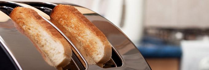 Toaster Toasting White Bread
