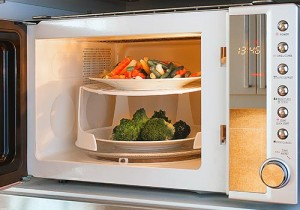 Microwave Oven Cooking Vegetables