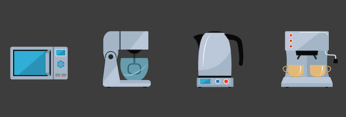 Mirowave Blender Coffee Machine And Kettle copy