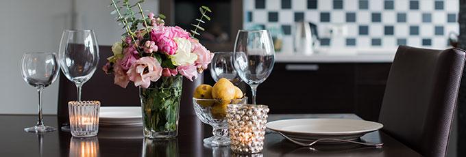 Modern Laid Dinner Table