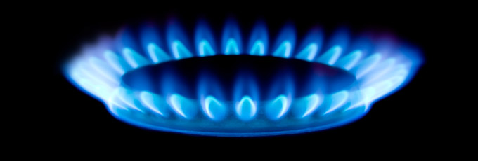 Blue Gas Flame From Gas Appliance