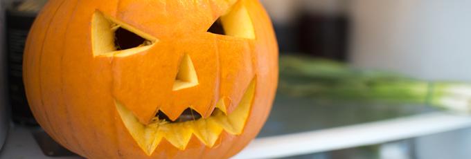 Carved Pumpkin In Fridge