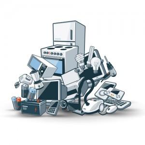 Pile Of Cartoon E-Waste
