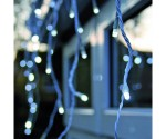 Icicle Christmas Lights Hanging Outside House
