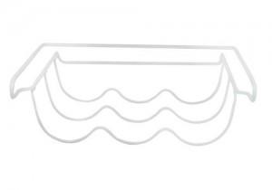 Fridge Shelf On White Background