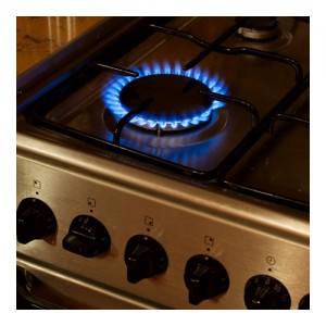 Cas Cooker With One Hob Burning