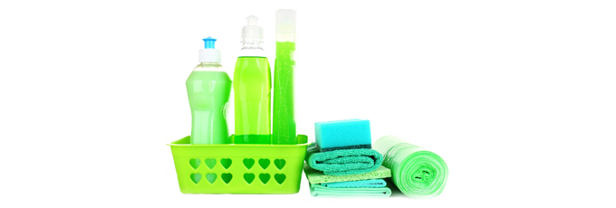 Selection Of Green Cleaning Products
