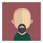Vector Of Customer With Bald Head And Beard