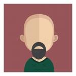 Vector Of Customer With Bald Head And Beard
