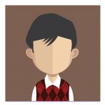 Vector Of Customer With Black Hair And Jumper
