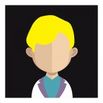 Vector Of Customer With Blond Hair