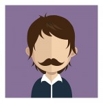 Vector Of Customer With Brown Hair And Moustache
