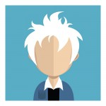Vector Of Customer With White Hair