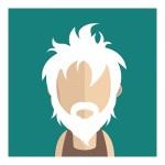 Vector Of Customer With White Hair And Beard