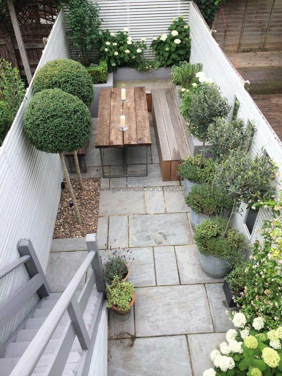 Wooden Furniture In Small Garden