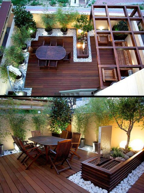 Wooden Patio Garden Design