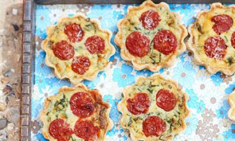 Roasted Tomato Pancetta Quiche