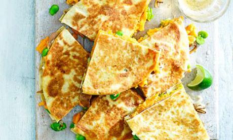 Sweet Potato Shallot Quesadillas