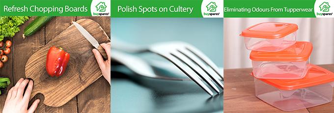 Cutting Board, Cutlery, Tupperware