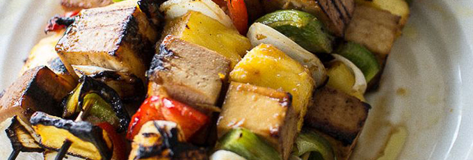 Salt And Pepper Tofu Skewers