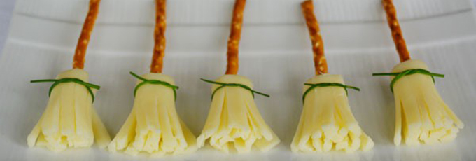 Cheese And Pretzel Broomsticks