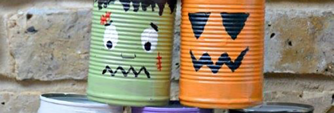 Tin Can Halloween Game