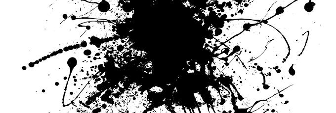 Ink Splatter On Paper