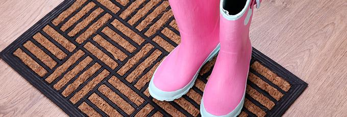 Boots on doormat