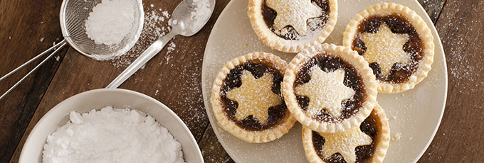 Mince pies on table