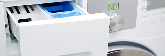 Washing machine soap dispenser drawer