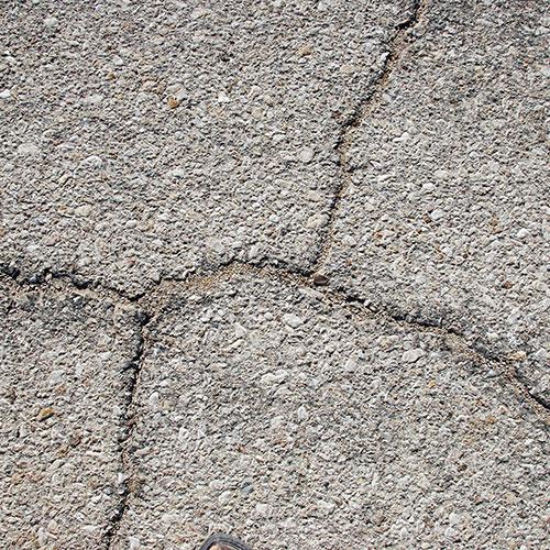 Cracks in driveway