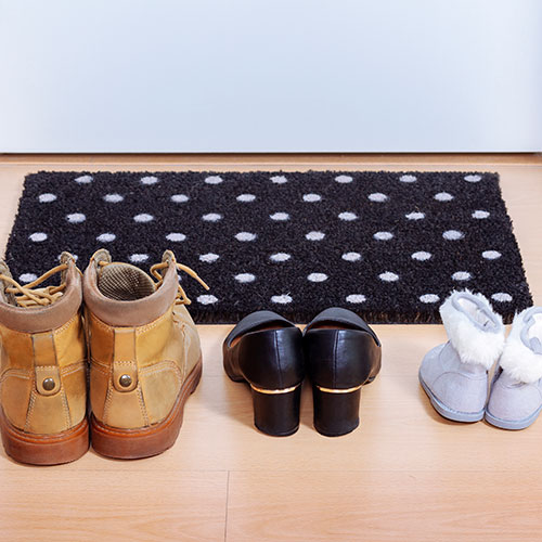 Doormat with shoes