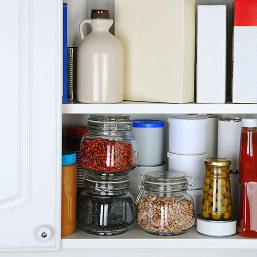 Kitchen food cupboard