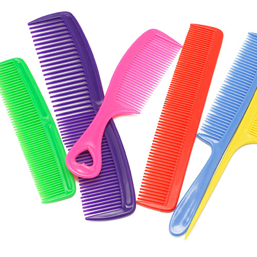 Plastic hairbrushes and combs