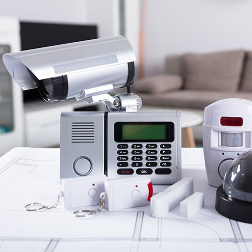 Home security and alarm system