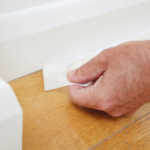 Wiping Skirting Boards