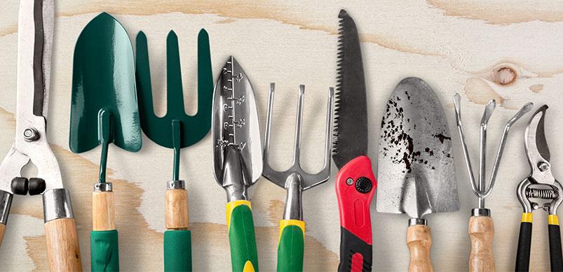 Garden Tools In A Row