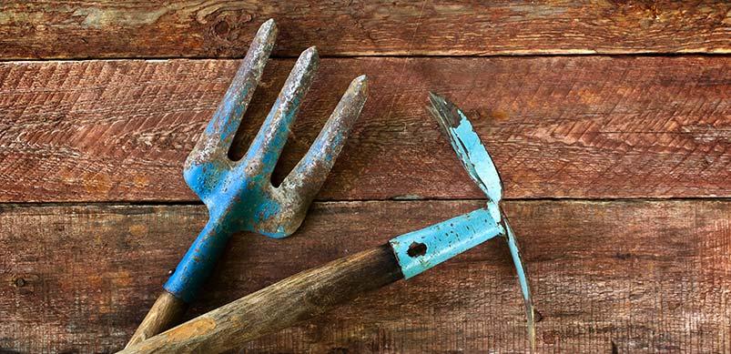 Garden Tools With Wooden Handles