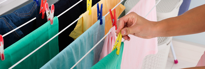 Clothes Hanging Dry