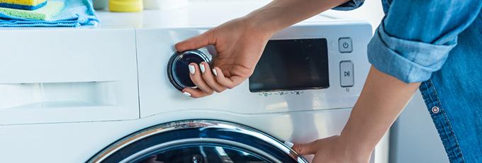 Hand Turning Washing Machine Knob